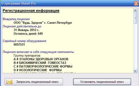 Информация о текущей лицензии