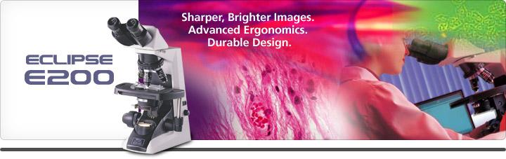 Биологические микроскопы серии ECLIPSE E200 предлагают однородно яркое поле зрения, высокую износостойкость, комфортное положение при длительной работе, простоту работы с моторизованными компонентами и разнообразное освещение, которые нужны для работы в клинических и лабораторных условиях